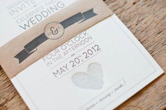 kartu undangan nikah letterpress modern simple desain dengan love didepannya