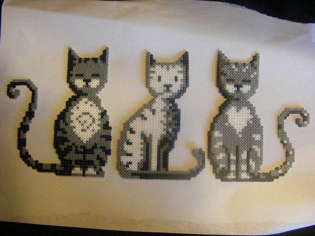 cats - Hama Beads, Perler Beads