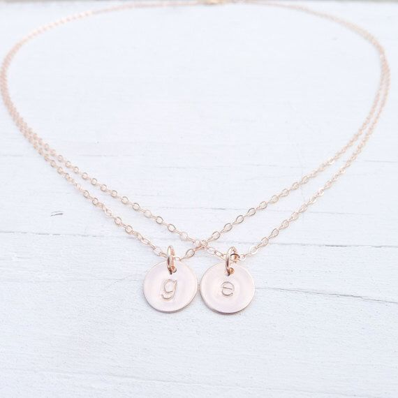 The 25 best letter pendants ideas on pinterest emeralds for rose gold double chain necklace dainty two chain necklaces with initials initial charms with 2 chains mozeypictures Gallery