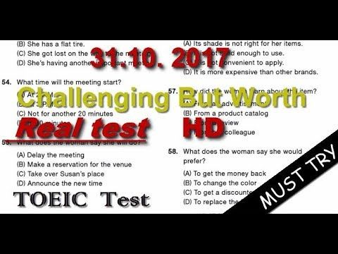 TOEIC LISTENING TEST - Actual TOEIC Listening Test Full HD 31.10.2017 wi...