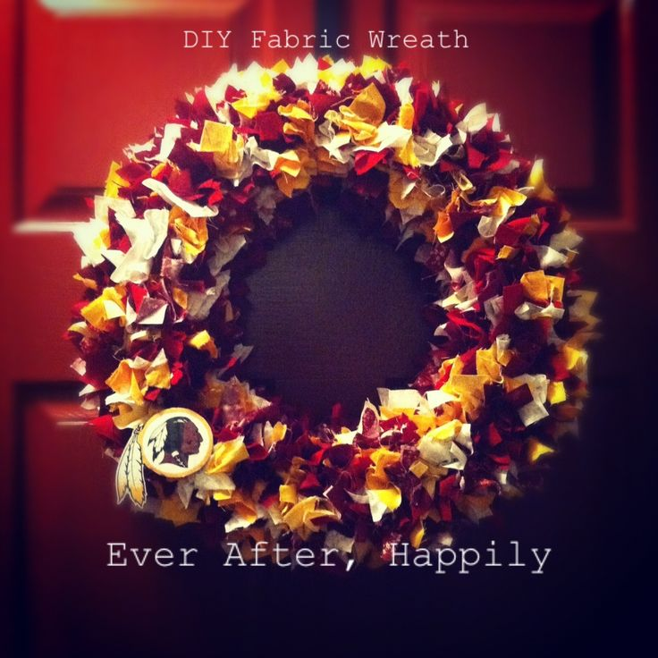 Redskins rag wreath - I am going to attempt to make this