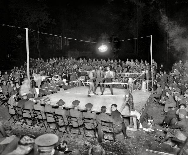 Вечерний боксерский поединок на территории «Walter Reed Hospital», Вашингтон, 1919 год.