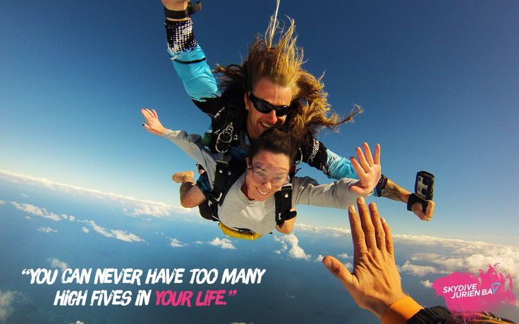 Inspirational desktop wallpaper. Skydive Jurien Bay. Perth, Western Australia. You can never have too many high fives in your life.