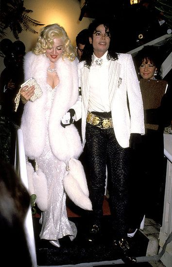 Academy Awards Oscars 1991: Madonna in Bob Mackie, with Michael Jackson