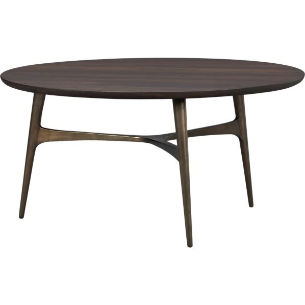 Bel Air Round Coffee Table In Side, Coffee Tables | Crate And Barrel
