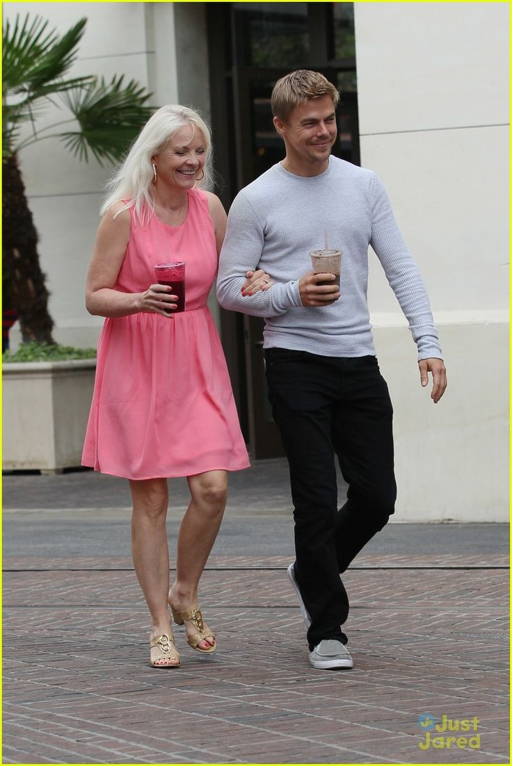 Derek Hough day out with mom Mari Anne Hough. He's a dancer on Dancing With The Stars channel 2 ABC.