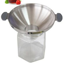 Large diameter thick funnel 304 stainless steel wine funnel oil pickle powder filling funnel