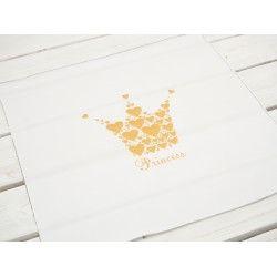 "PRINCESS (brokatowy) ""S"" / B-00 biala - panel PE240 #nowość#materiał #dresówka#dzianina#new#fabric#sweatshirt#materials#shop#dresowkapl#pasmanteria"