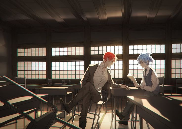 Anime assassination classroom karma akabane nagisa shiota