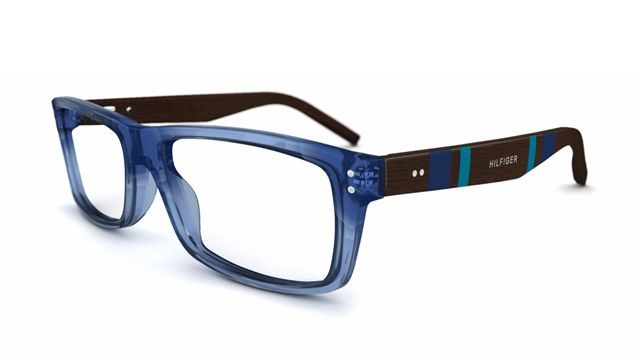 Blue with Wood Tommy Hilfiger glasses