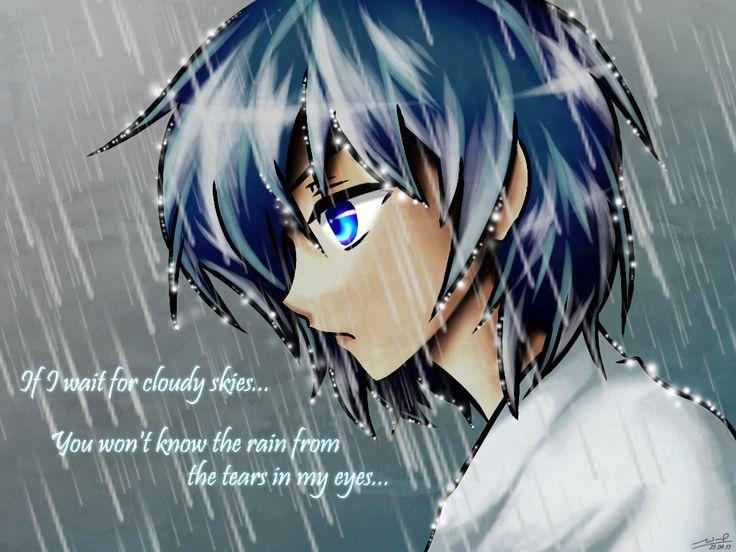 dress - Crying boy anime in the rain video