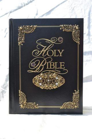 Amethyst KJV Family Faith & Values Family Bible-Black or White