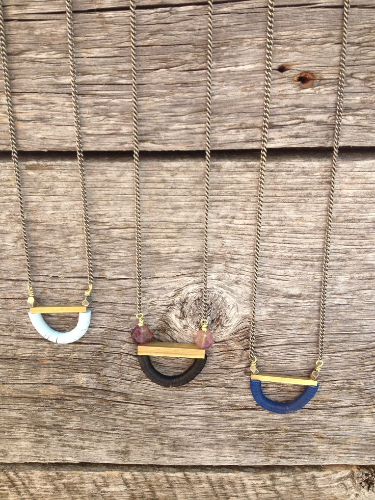 #vintage #sequin necklaces with hand cut #brass tubing and #gemstones