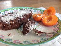 Gezond recept, raw brownie met kokos avocado banaan