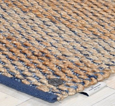 Tom Tailor - Braid Natural / Blue Rugs - buy online at Modern Rugs UK