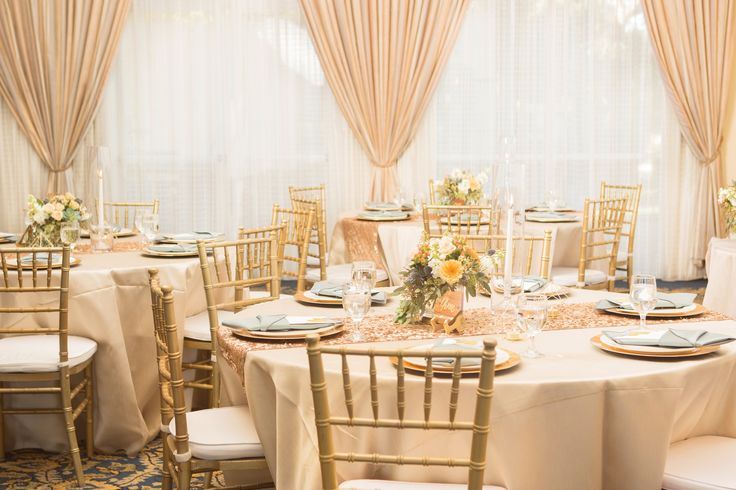 California laid back meets ballroom reception.  Color palette: blush, champagne, ivory, gold, thistle, forest greenery.  Grand Pacific Palisades Resort and Hotel.