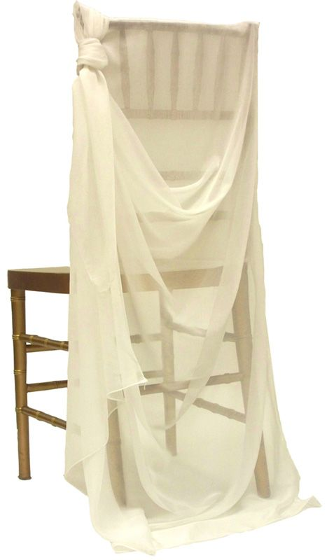 sheer fabric to quickly make any chair look elegantly greek