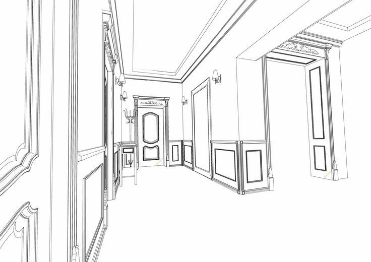 "Визуализация проекта ""RuLes"" #интерьер #проект #interior #двери #русский_лес"