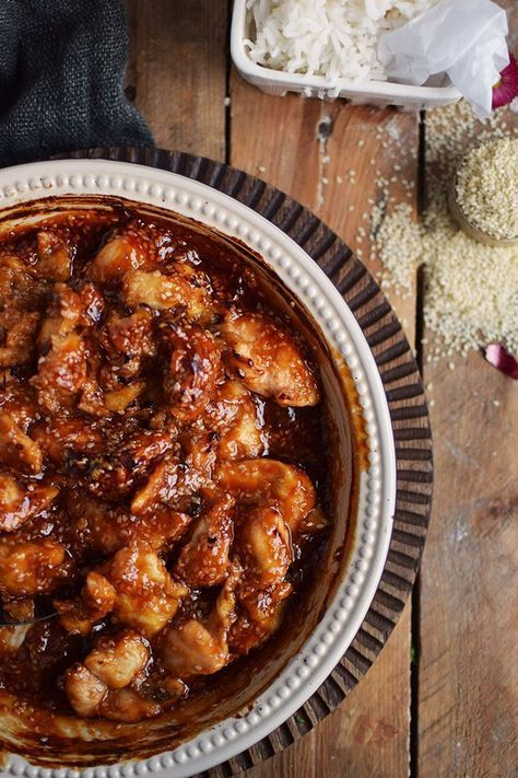 Honig Sesam Hühnchen – Honey Sesame Chicken Recipe #dinner #dinnertime