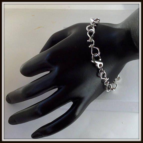 Pegase  Bracelet  handcrafted sterling silver 925 horseshoe