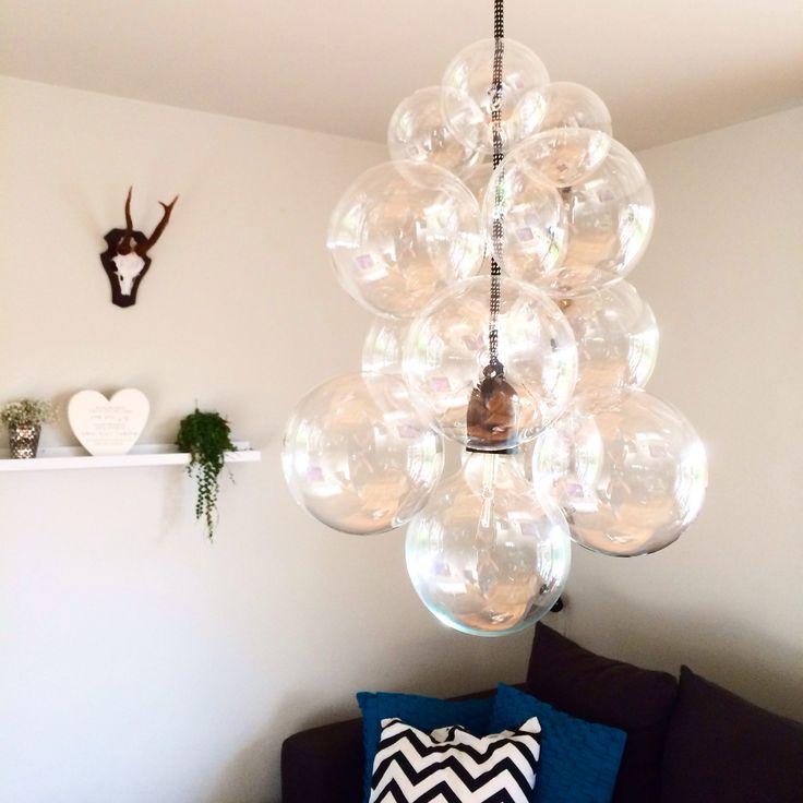 Då är min egen variant av Housedoctors DIY lampan klar ljuskälla och sladd från…