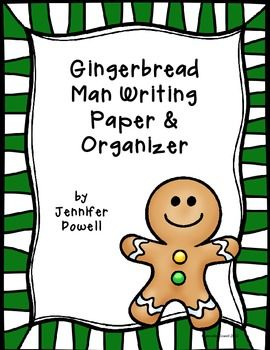 Gingerbread shaped writing paper and organizer. Freebie