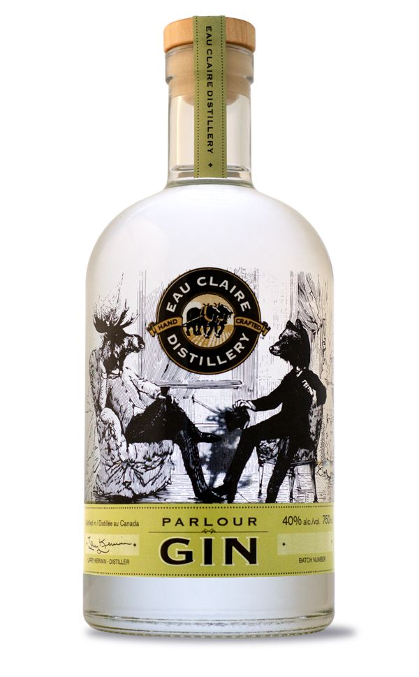 Prairie's famed Alberta Rose, Parlour Gin - Eau Claire Distillery's | #packaging #bottledesign #gin