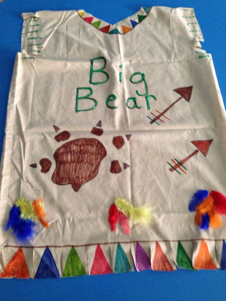 Indian pillowcase vest | Preschool crafts | Thanksgiving ...