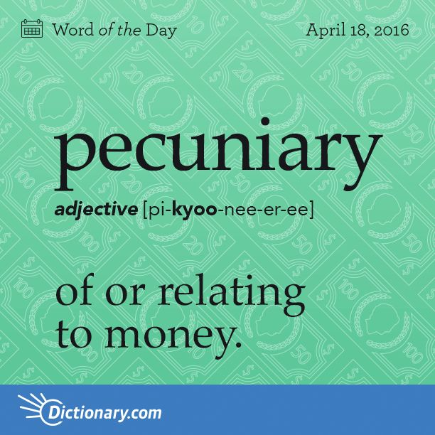 definition of pecuniary relationship