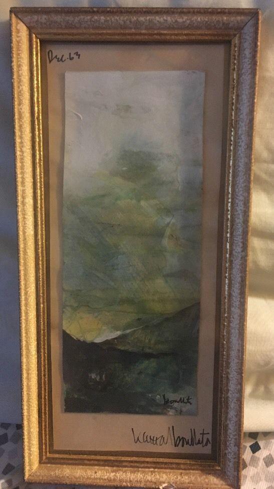 Vtg 1963 Rare Jordan Palestinian Art Kamal Boullata Abstract Painting    eBay