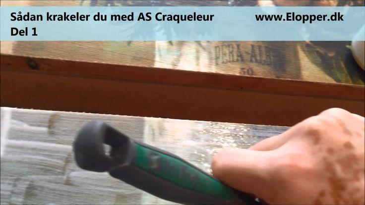 Sådan krakeler du med Annie Sloan´s Craqueleur. Del 1  Jeg viser her hvordan du anvender craqueleur step 1, på et kanvas billede som er limet på en kommode skuffe. Se også del 2 som viser, hvordan man arbejder  med step 2