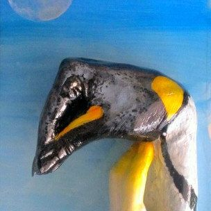 Penguin hand animal by 100percenthandmad on Etsy