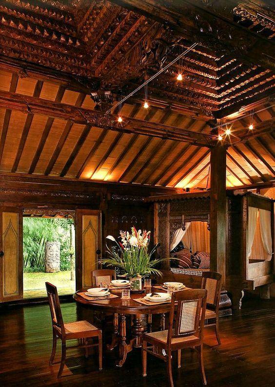 Balinese Interior Design #interior #exterior #balineseinterior #balineseexterior #balinesestyle #balinesearchitecture #baliinterior #bali #baliexterior #balistyle #baliarchitecture #traditionaldiningroom #diningroom