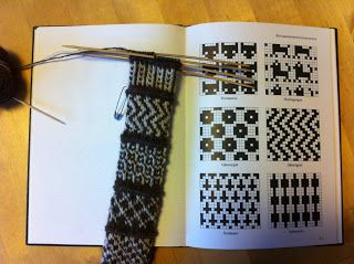 "Lappone: Swatching - twined knitting meets ""Føroysk bindingarmynstur"""