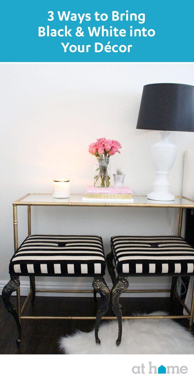45 Best Black And White D Cor Images On Pinterest Black