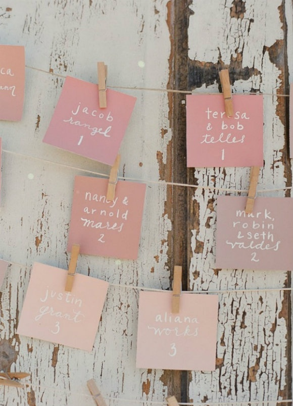 love these pinks and this idea