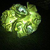 Lerway 20 LED Rosen Lichterkette Batteriebetrieben Innen Im Freien Beleuchtung für Garten Rasen Bar Verein Hochzeit Valentinstag…