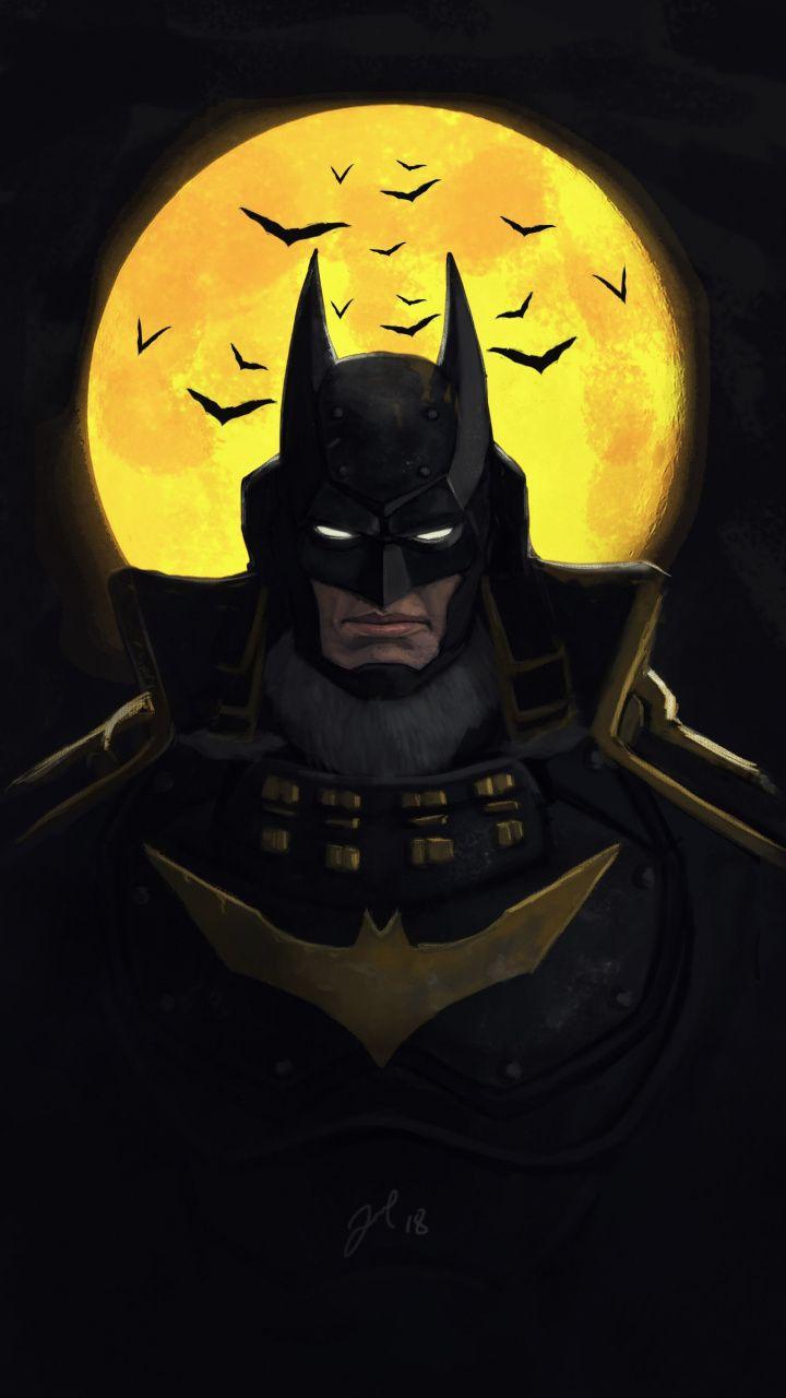 720x1280 Batman Ninja Animated Movie Dark Art Wallpaper