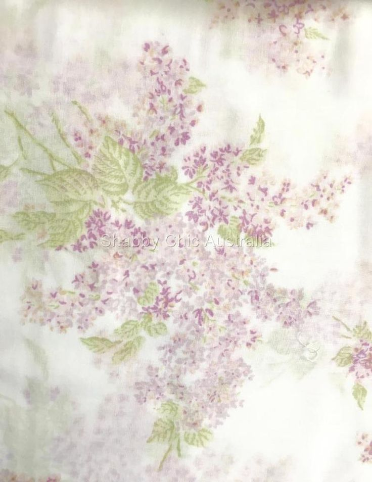 2 Simply Shabby Chic Voile Lavender Floral Sheer White Curtains Drape Panel Chic