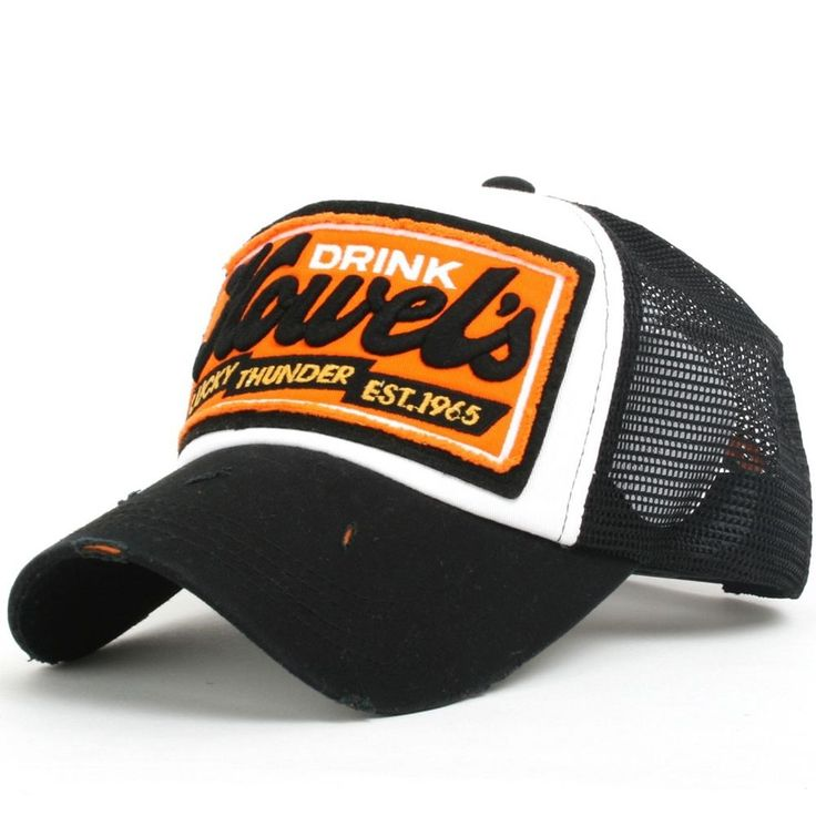ililily Lord Embroidery Baseball Cap Cotton Strapback Trucker Hat WvkZtndbwX