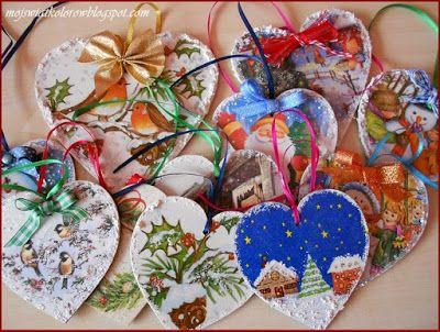 Mój świat kolorów...: Świąteczne zawieszki...
