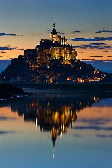 Mont St. Michel, France; also known as Hogwarts