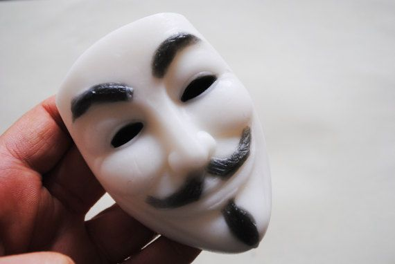 1 x Crafted Guy Fawkes Mask Soap  Mather day Father's by NerdySoap