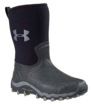 """Under Armour® H.A.W. Shorty 11"""" Non-Insulated Waterproof Rubber Boots for Men - Black 
