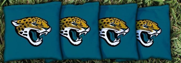 NFL Jacksonville Jaguars Teal Bean Bag Set