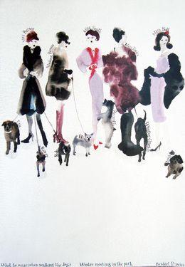 "Saatchi Art Artist Bridget Davies; Painting, ""Winter Meeting in the Park"" #art"