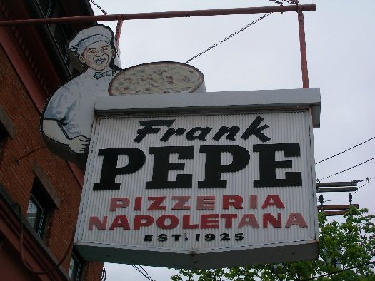pepe's pizza | Wooster Square Pizza Rivalery: Frank Pepe's Pizzeria thin crust
