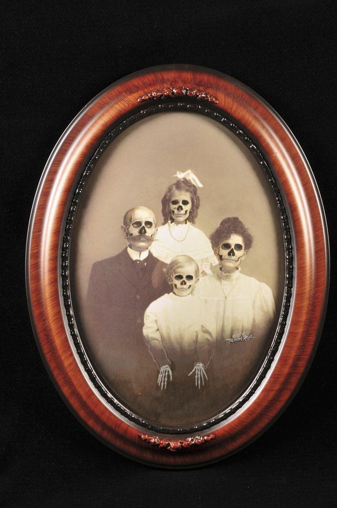 Unexpected skull portrait
