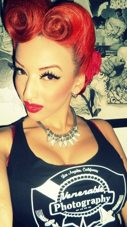Rockabilly hairstyles wish I had the hair for it