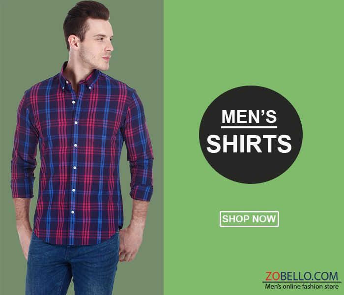 Explore the latest collection of Men's check shirts online available at Zobello. Free Shipping! Easy Returns! COD! - Find widest range of products online. Checkout variety of fashionable checked shirts for men like red and black check shirt & small checked shirts. Here is also stylish blue and white, green, yellow, purlple best checks shirts designs available. Shop online at your favourite high street store. Free delivery options available.